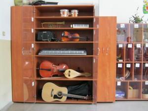 Част от инструментите в училището